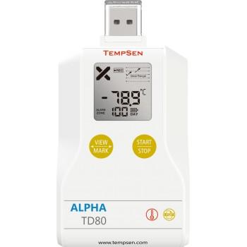 Alpha TD80 niskotemperaturowy rejestrator USB, PDF