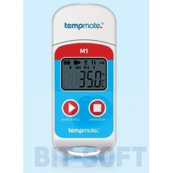 tempmate®-M1 -miniaturowy rejestrator temperatur wielokrotnego użytku USB PDF
