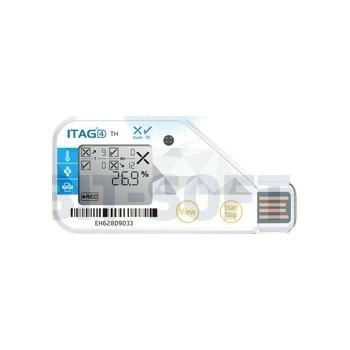 ITAG®4 TH - jednorazowy rejestrator wilgotności i temperatury, USB, PDF